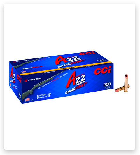 CCI Gamepoint 22 Winchester Magnum Rimfire Ammo 35 grain