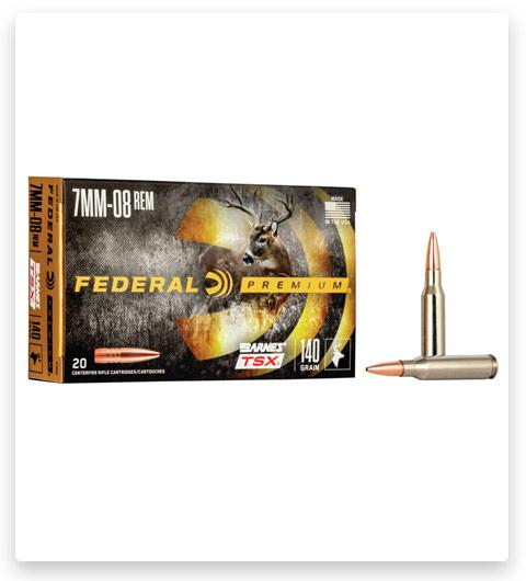 Federal Premium BARNES TSX 7mm-08 Remington Ammo 140 grain