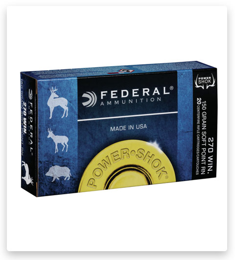 Federal Premium Power-Shok 270 Winchester Ammo 150 grain