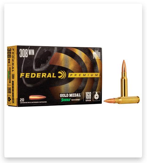Federal Premium SIERRA MATCHKING BTHP 308 Winchester Ammo 168 grain