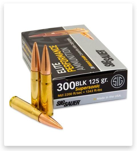 Sig Sauer SIG Match Grade 300 AAC Blackout Ammo 125 grain