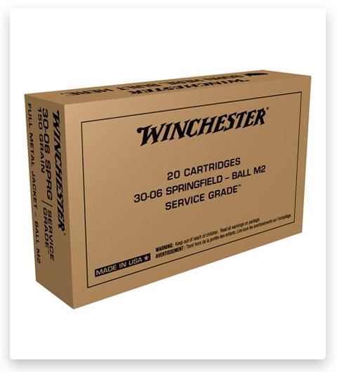 Winchester SERVICE GRADE 30-06 Springfield Ammo 150 grain