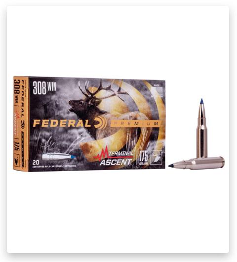 Federal Premium TERMINAL ASCENT 308 Winchester Ammo 175 grain