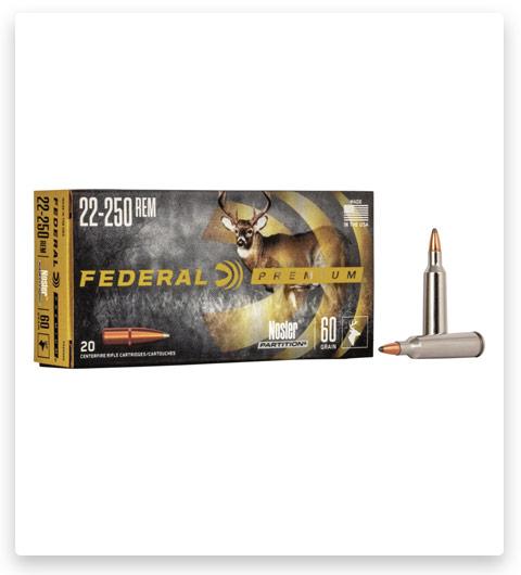Federal Premium VITAL-SHOK 22-250 Remington Ammo 60 grain