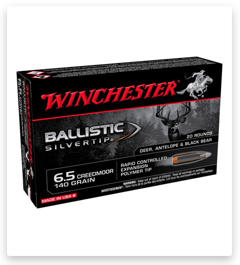 Winchester BALLISTIC SILVERTIP 6.5 Creedmoor Ammo 140 grain