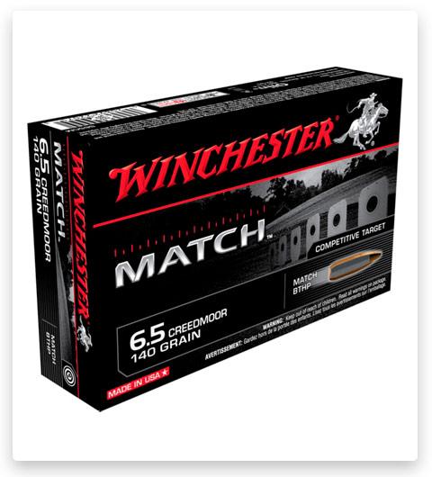 Winchester MATCH 6.5 Creedmoor Ammo 140 grain