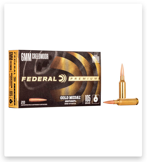 Federal Premium BERGER HYBRID BTHP 6mm Creedmoor Ammo 105 grain
