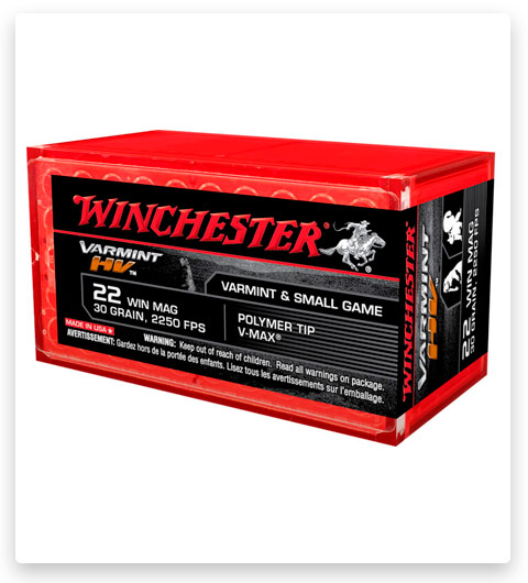 Winchester VARMINT HV 22 Winchester Magnum Rimfire Ammo 30 grain