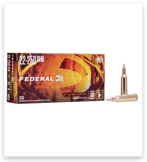 Federal Premium FUSION 22-250 Remington Ammo 55 grain