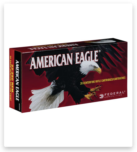 Federal Premium JACKETED HOLLOW POINT 22-250 Remington Ammo 50 grain