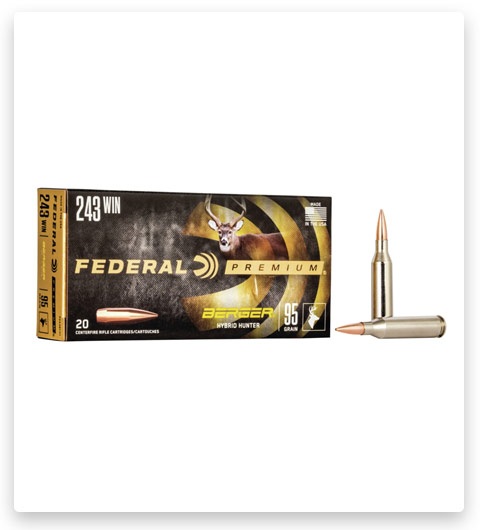 Federal Premium BERGER HYBRID HUNTER 243 Winchester Ammo 95 grain