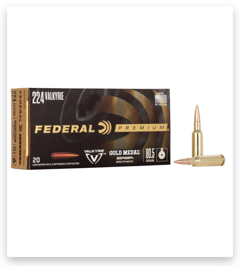 Federal Premium GOLD MEDAL BERGER 224 Valkyrie Ammo 80.5 grain