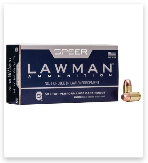 Speer Lawman Handgun Training 45 GAP Ammo 185 grain