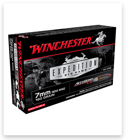 Winchester Expedition Big Game 7mm Rem Mag Ammo 160 Grain