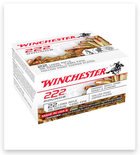 Winchester 222 22 Long Rifle Ammo 36 grain