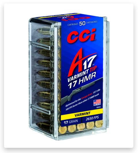 CCI A17 17 Hornady Magnum Rimfire Ammo 17 grain