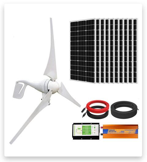 ECO-WORTHY 1400W Wind Turbine Generator