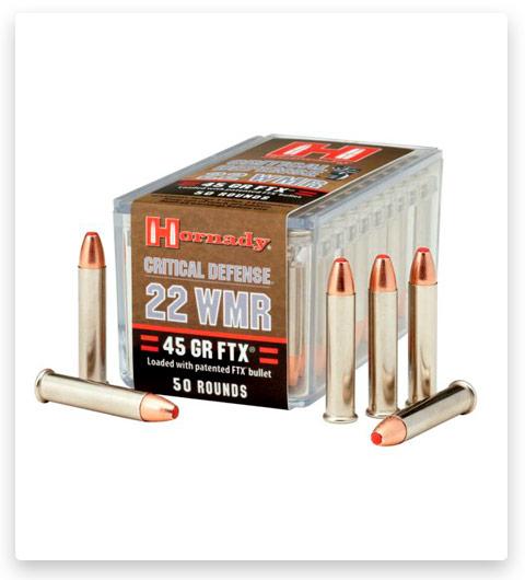 Hornady Critical Defense 22 Winchester Magnum Rimfire Ammo 45 Grain