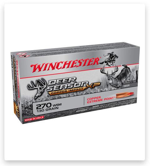 Winchester DEER SEASON XP-COPPER IMPACT 270 Winchester Short Magnum Ammo 130 grain