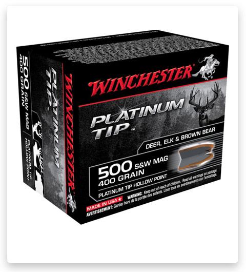 Winchester PLATINUM TIP HOLLOW POINT 500 S&W Magnum Ammo 400 grain