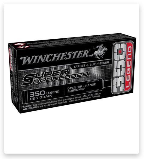 Winchester SUPER SUPPRESSED 350 Legend Ammo 255 grain