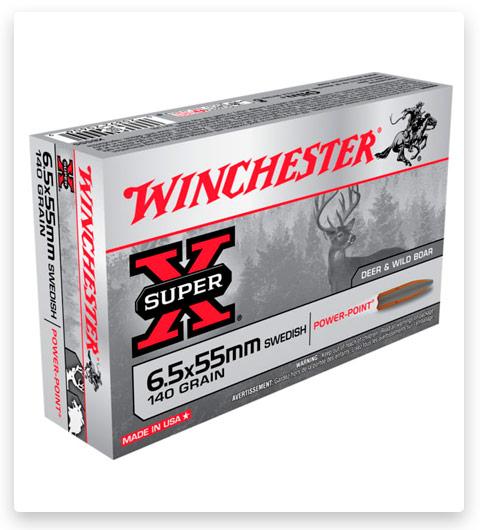 Winchester SUPER-X RIFLE 6.5x55mm Swedish Ammo 140 grain