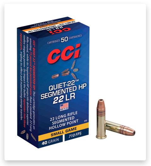 CCI Quiet-22 Segmented HP 22 Long Rifle Ammo 40 grain
