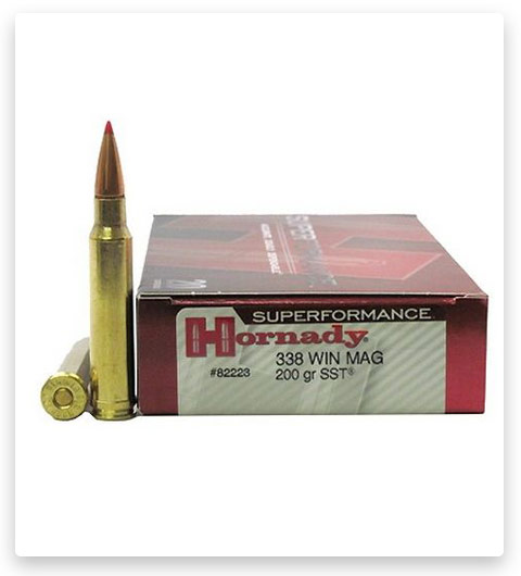 Hornady Superformance 338 Winchester Magnum Ammo 200 Grain
