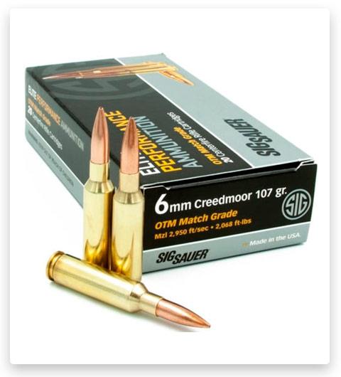 Sig Sauer SIG Match Grade Rifle 6mm Creedmoor Ammo 107 grain