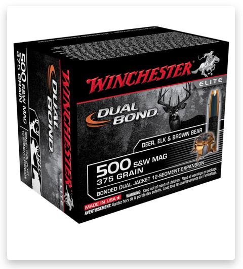 Winchester DUAL BOND HANDGUN 500 S&W Magnum Ammo 375 grain