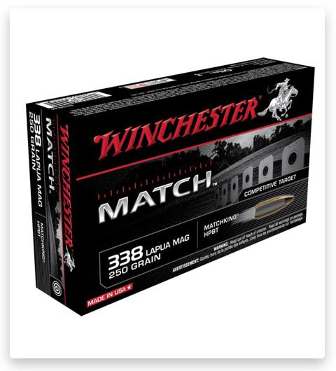 Winchester MATCH 338 Lapua Magnum Ammo 250 grain