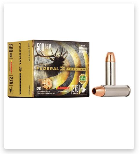 Federal Premium Centerfire Handgun 500 S&W Magnum Ammo 275 grain