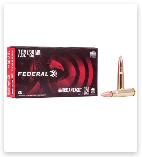 Federal Premium FULL METAL JACKET 7.62x39mm Ammo 124 grain