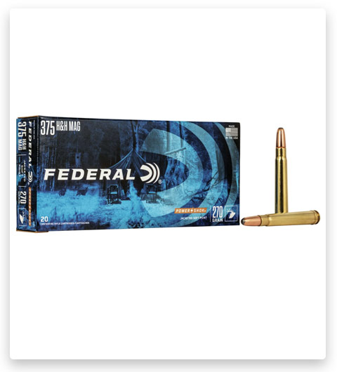 Federal Premium Power-Shok 375 H&H Magnum Ammo 270 grain