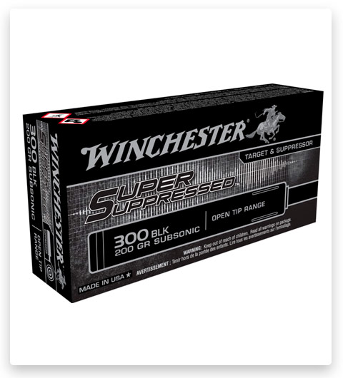 Winchester SUPER SUPPRESSED 300 AAC Blackout Ammo 200 grain