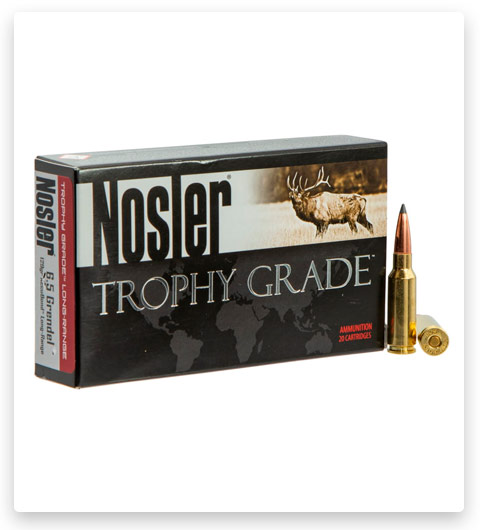 Nosler Trophy Grade 6.5mm Grendel Ammo 129 Grain