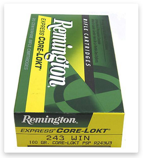 Remington Core-Lokt 243 Winchester Ammo 100 Grain