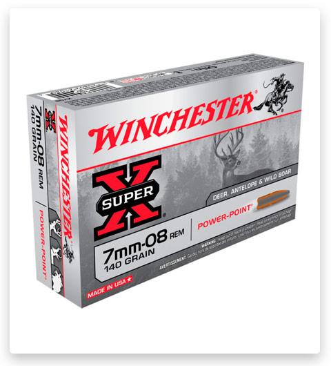Winchester SUPER-X RIFLE 7mm-08 Remington Ammo 140 grain