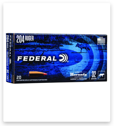 Federal Premium HORNADY V-MAX 204 Ruger Ammo 32 grain