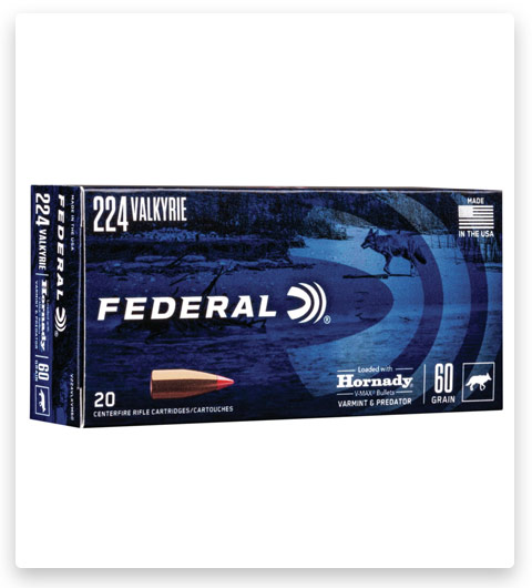 Federal Premium HORNDAY V-MAX 224 Valkyrie Ammo 60 grain