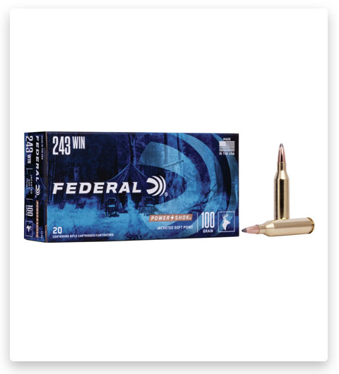 Federal Premium Power-Shok 243 Winchester Ammo 100 grain
