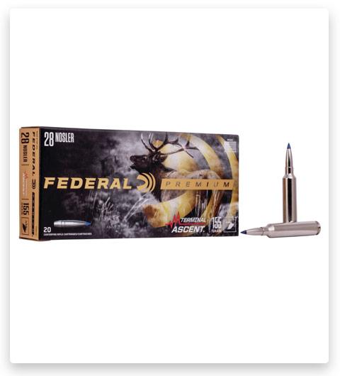 Federal Premium TERMINAL ASCENT 28 Nosler Ammo 155 grain