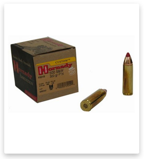 Hornady Custom 500 S&W Magnum Ammo 300 Grain