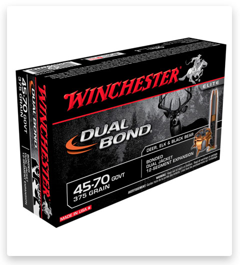 Winchester DUAL BOND 45-70 Government Ammo 375 grain