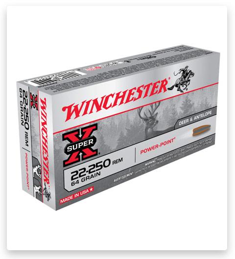 Winchester SUPER-X RIFLE 22-250 Remington Ammo 64 grain