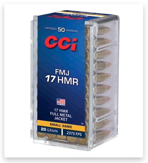 CCI Full Metal Jacket 17 Hornady Magnum Rimfire Ammo 20 grain