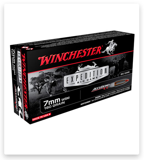 Winchester Expedition Big Game 7mm Winchester Short Magnum Ammo 160 Grain