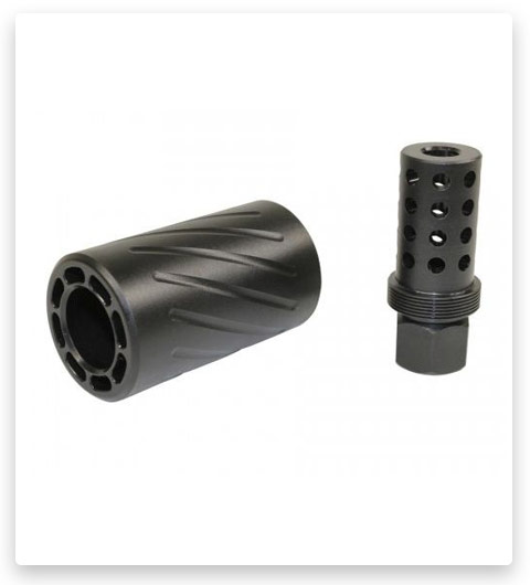 Guntec USA AR-15 Muzzle Comp with QD Blast Shield