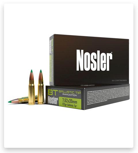 Nosler 7.62x39mm Ammo 123 Grain