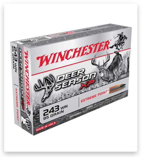 Winchester DEER SEASON XP 243 Winchester Ammo 95 grain